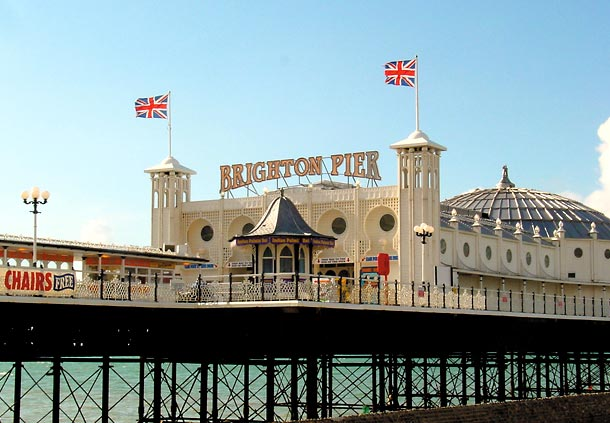 El muelle de Brighton (Inglaterra)